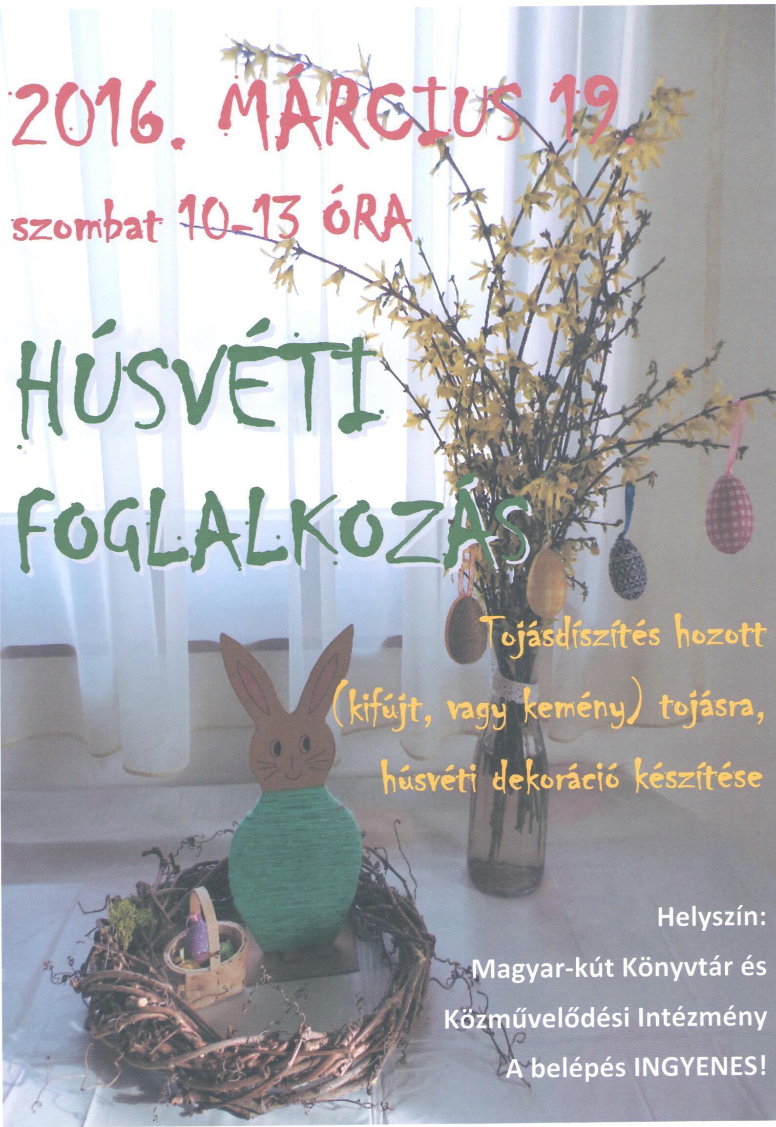 Húsvéti kézűves foglalkozás meghívó