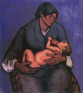 Kép címe: Tihanyi cigány asszony gyermekével